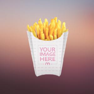 custom printed fries box